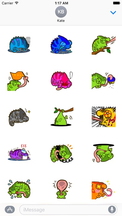 Cute Chameleon Sticker screenshot 2