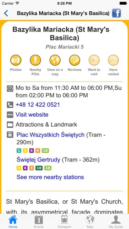 Krakow Travel Guide Offline screenshot-4