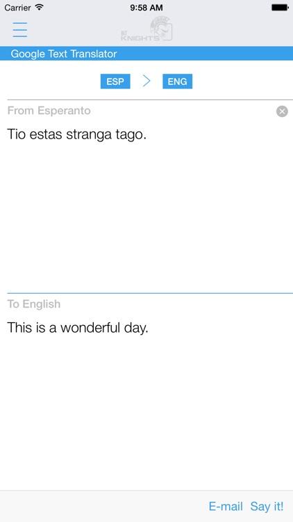 Dictionary Esperanto English