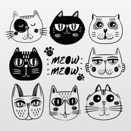 Kitty Cat Stickers - Cute Pet