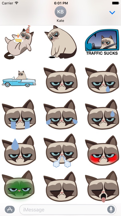 Grumpmoji Grumpy Cat Stickers screenshot-3