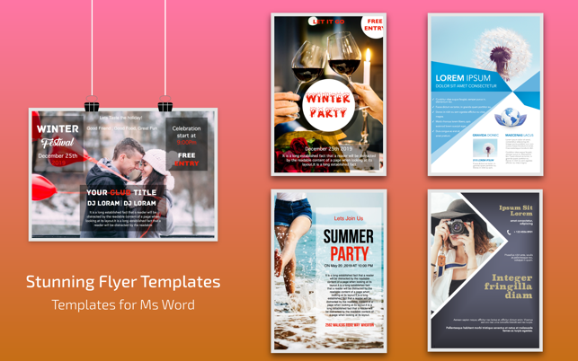 Flyer Templates For Ms Word On The Mac App Store