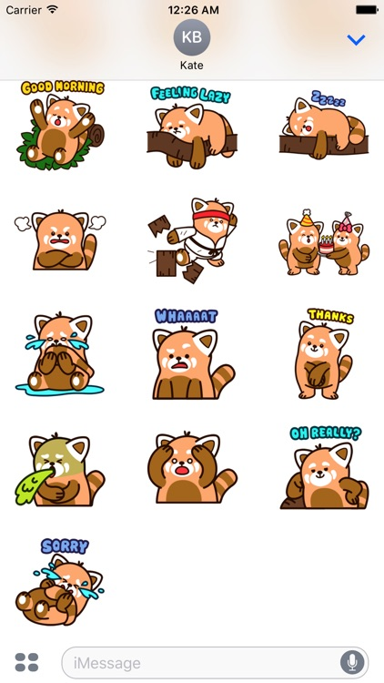 Cute Red Panda Stickers screenshot-4