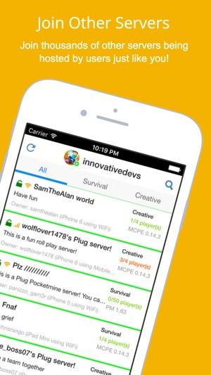 Plug For Minecraft On The App Store - Minecraft pe server erstellen ipad