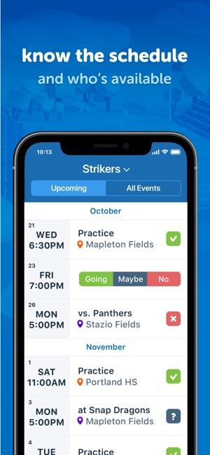 team snap app