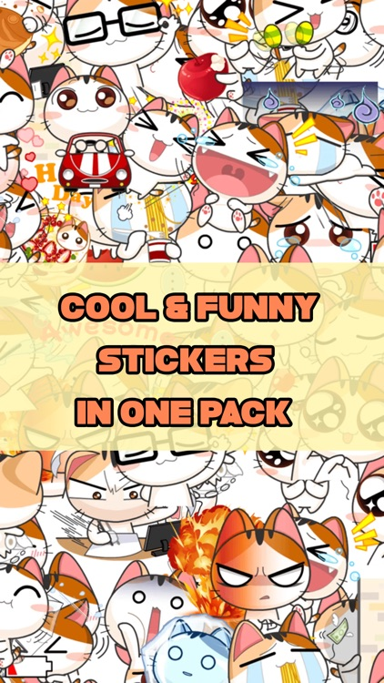 Cute Japanese Cat Stickers