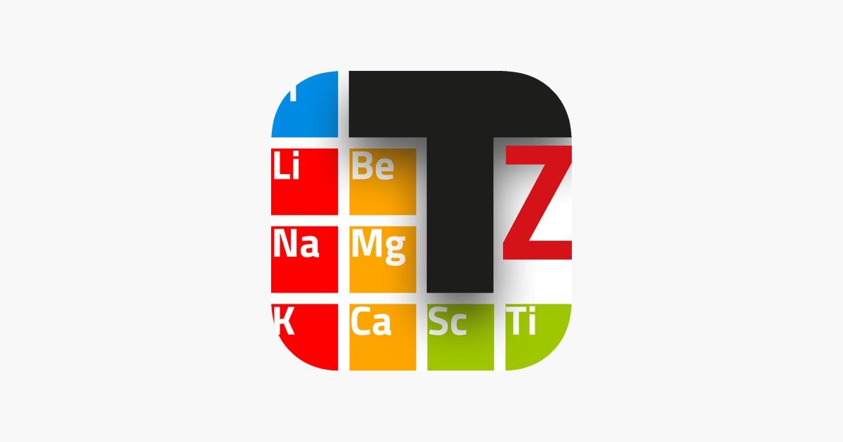 Tavola periodica su app store - Tavola periodica in inglese ...