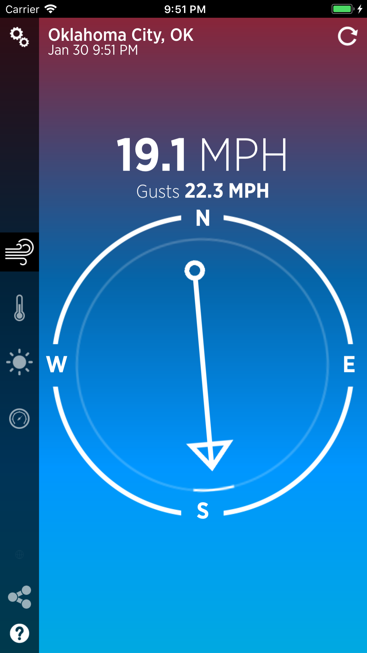 Wind Compass Screenshot