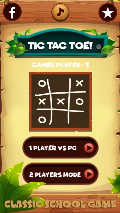 XO Tic tac toe ! Wooden screenshot two