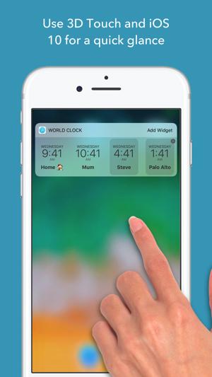 World clock time widget on the app store screenshots iphone ipad gumiabroncs Choice Image
