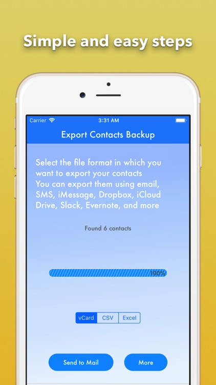 Export Contact Cleaner Backup