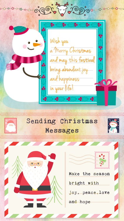 Christmas Letter with Message