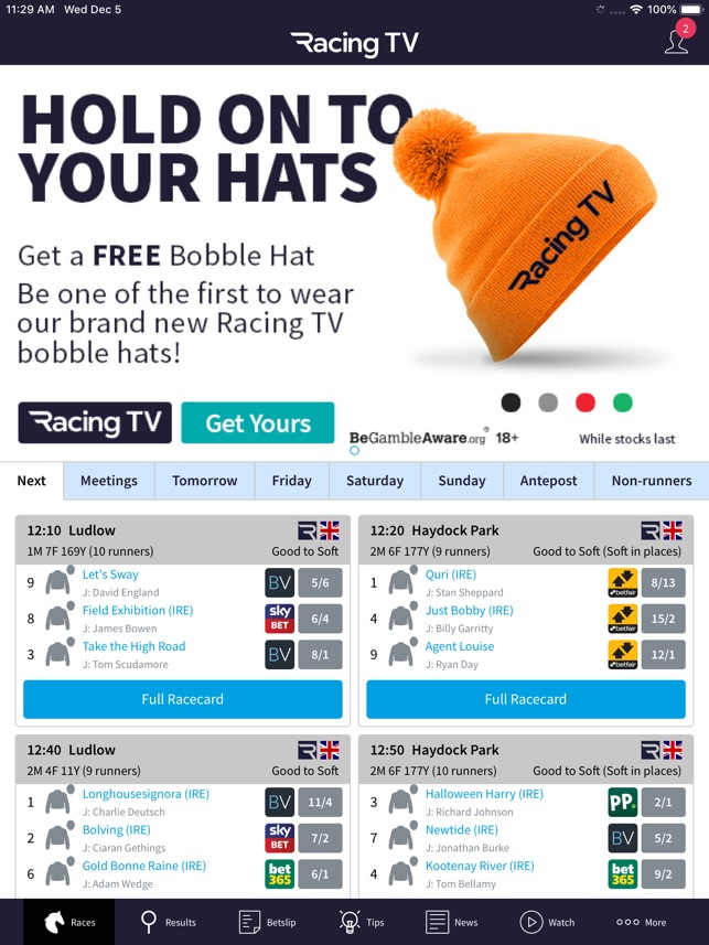 Racing TV – Live horse racing on the App Store