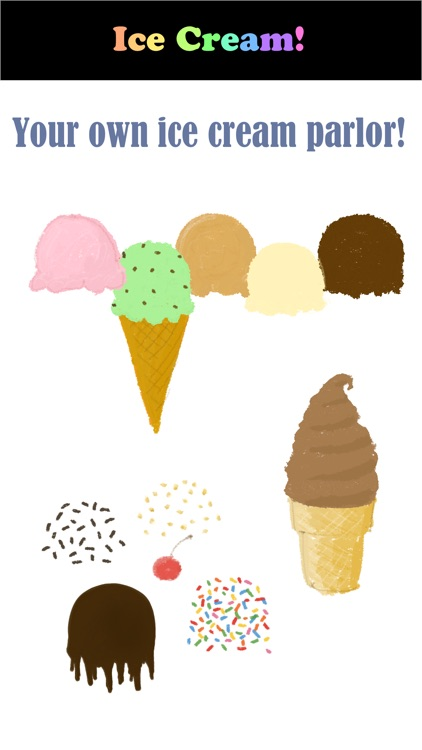 Ice Cream Parlor Stickers – Build your own cone!