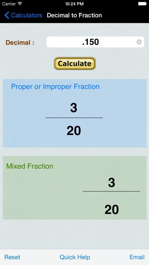 Decimal to Fraction Converter+ App 截图