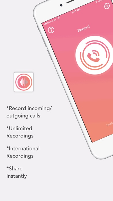 Call Recorder - Save & Listen Screenshot