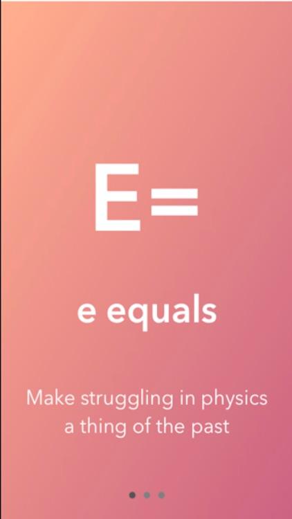 E Equals