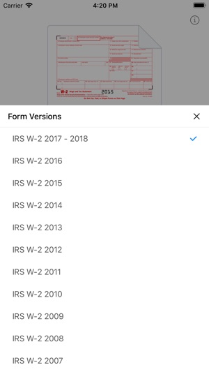 W2 Form On The App Store
