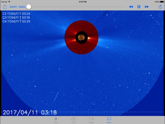 Solar Activity Monitor Screenshots