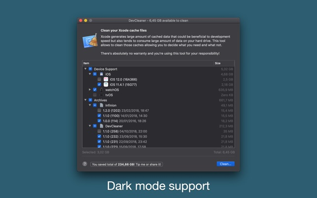 DevCleaner for Xcode on the Mac App Store