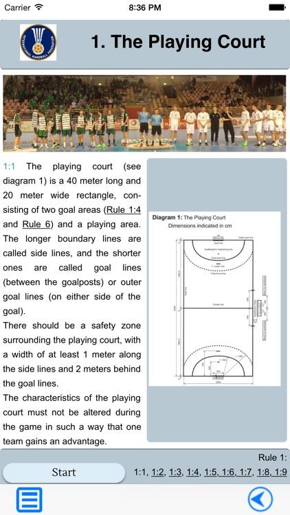 Handball Rules and Quiz screenshot-4