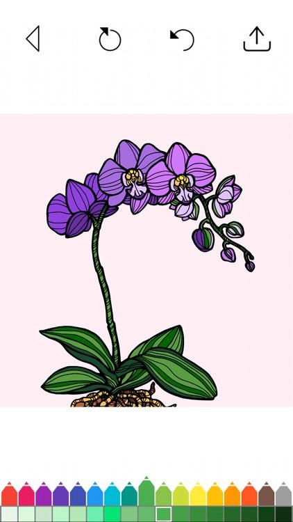Flower Coloring Book Games screenshot-3