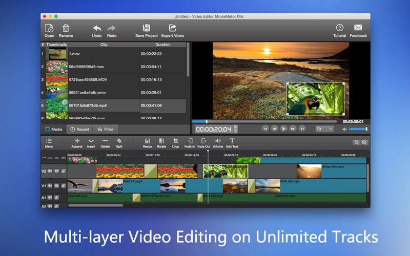 Video Editor MovieMator Pro Screenshots