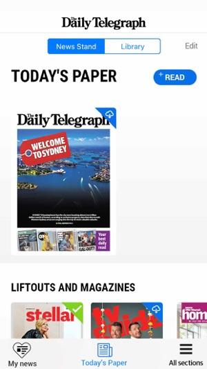 The Daily Telegraph. Screenshot