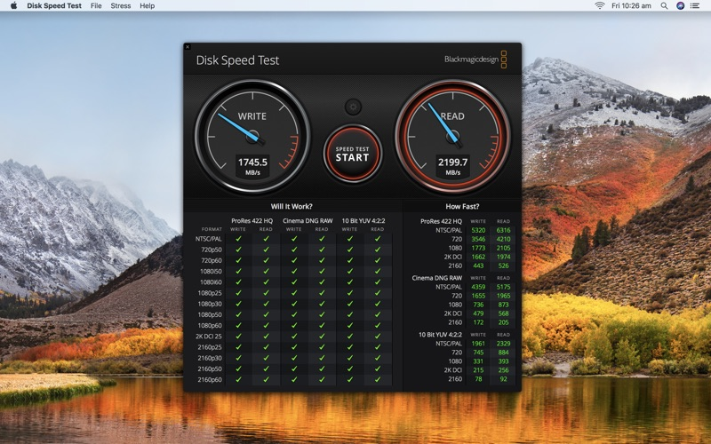Disk Speed Test Screenshot