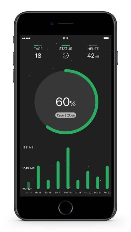 DataRocket Data Usage Monitor