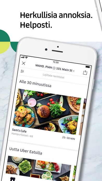 Screenshot for Uber Eats: ruokatoimitukset in Finland App Store