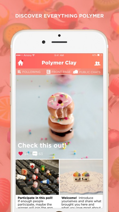 Polymer Clay Amino Screenshot on iOS