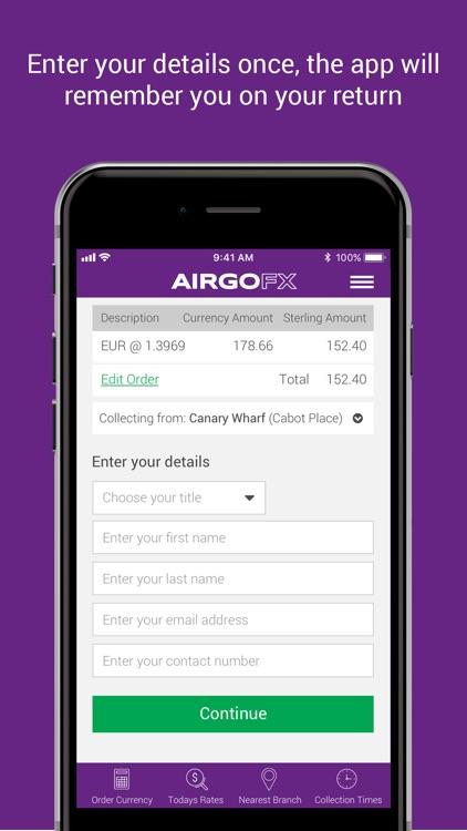 AIRGOFX - Travel Money Online screenshot-5