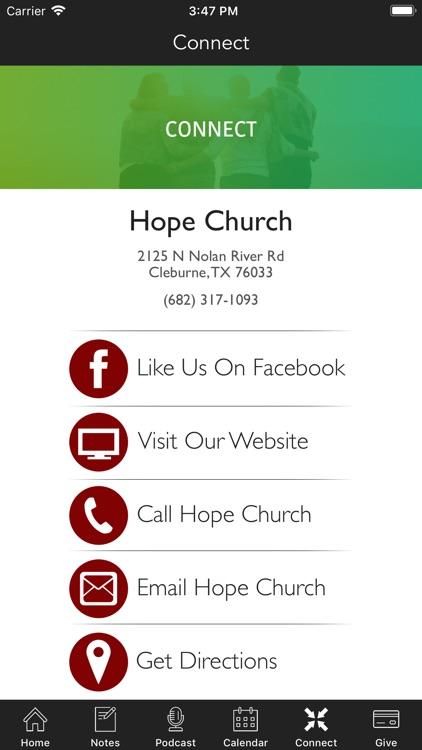 Hope Church   Cleburne screenshot-4