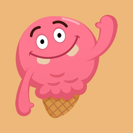 Ice-Cream Emoji Sticker
