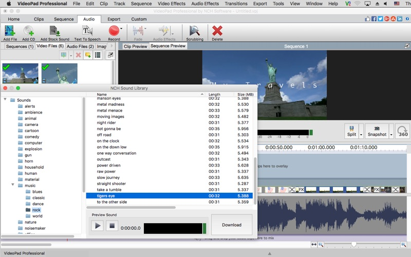 VideoPad Professional Screenshots