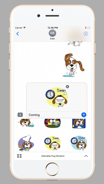Adorable Pug Stickers screenshot-2