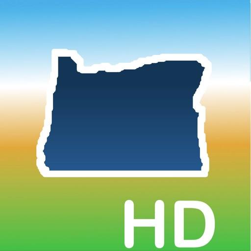 Aqua Map Oregon Lakes GPS HD