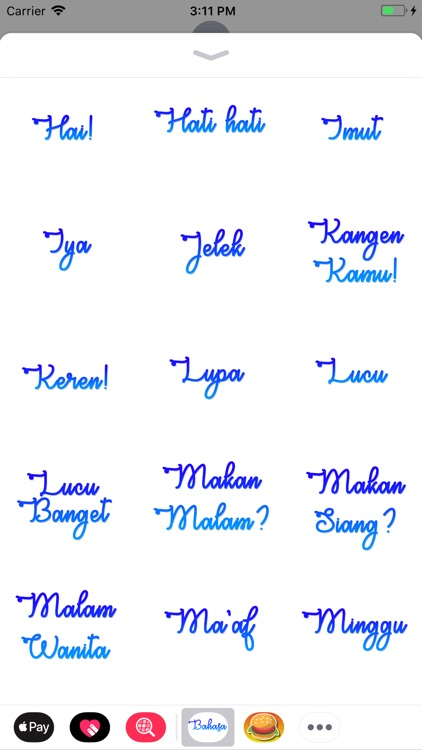 Bahasa Stickers screenshot-2