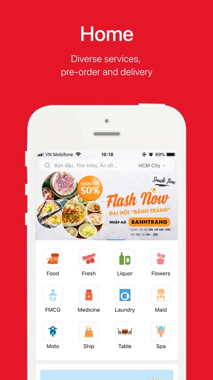 Now.vn - Food Delivery