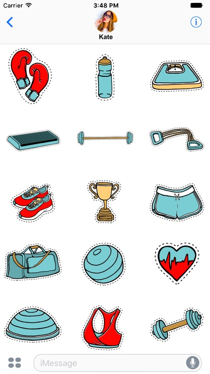 Fitness stickers for messages
