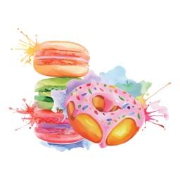 Macaroon Biscuit Stickers