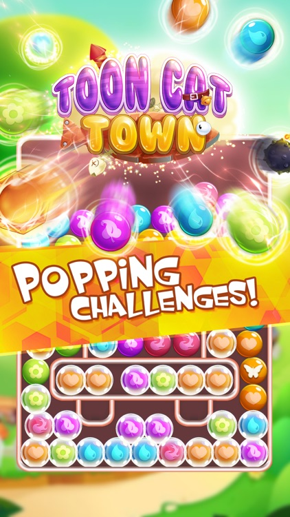 Toon Cat Town: Pop Crush Blast screenshot-3
