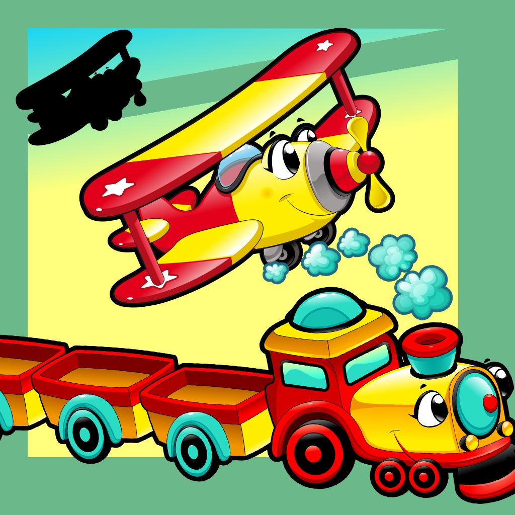 Animated Kids Game: Shadow Puzzle with Funny Cars and Planes in the City hack