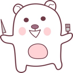 Kuku The Cute Teddy stickers