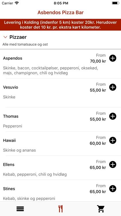 Asbendos Pizza Bar, Kolding screenshot-3