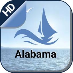 Alabama offline nautical marine charts for boating