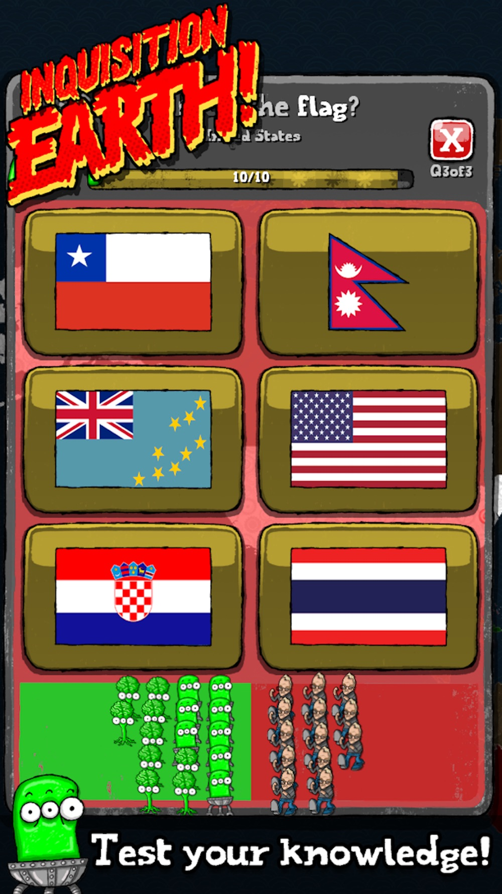 Inquisition Earth! (Map Quiz) Cheat Codes
