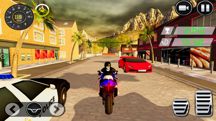 Dirt Bike Stunt Race-r Game 3D screenshot-4