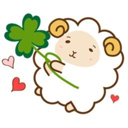 SheepMoji Fluffy Sheep Sticker
